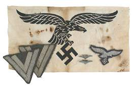 564: German WWII Luftwaffe cloth insignia group