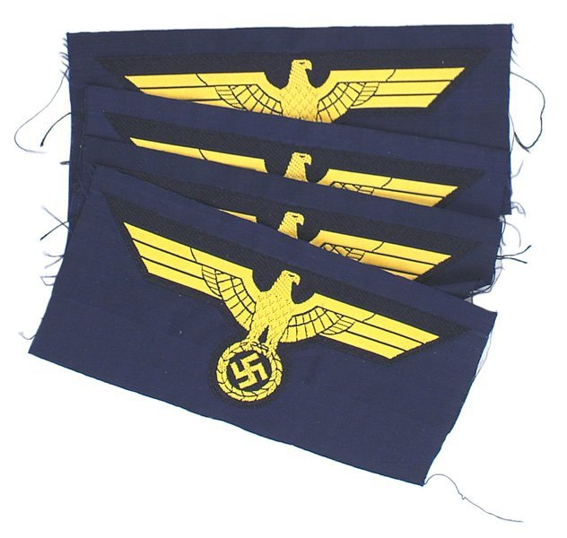 566: Lot of 4 German WWII Navy breast eagles
