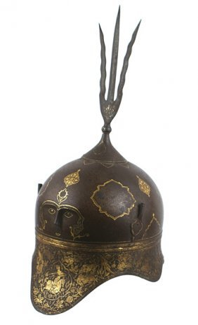 1: Unusual Indo-Persian helmet
