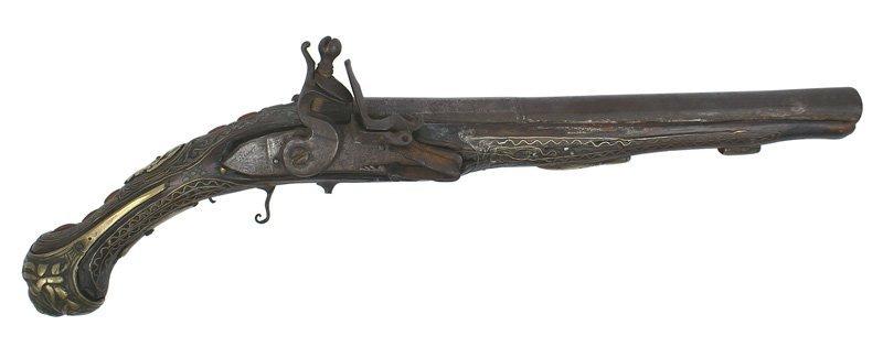 5: Mid-Eastern type flintlock pistol
