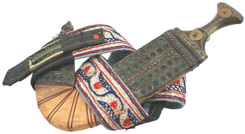 7: Arab Jambiya knife dagger