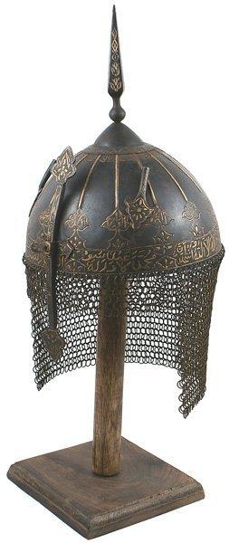 8: Museum copy of Persian Kulah Khud helmet
