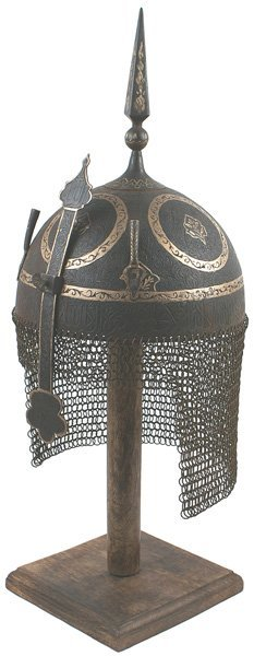 9: Museum copy of Persian Kulah Khud helmet