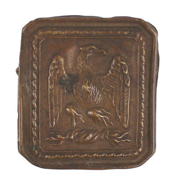 17: French Napoleonic officer's belt buckle