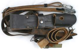 227 Miscellaneous German WWII leather grouping