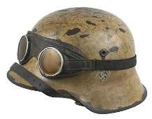 374 German WWII Afrika Korps M1942 helmet