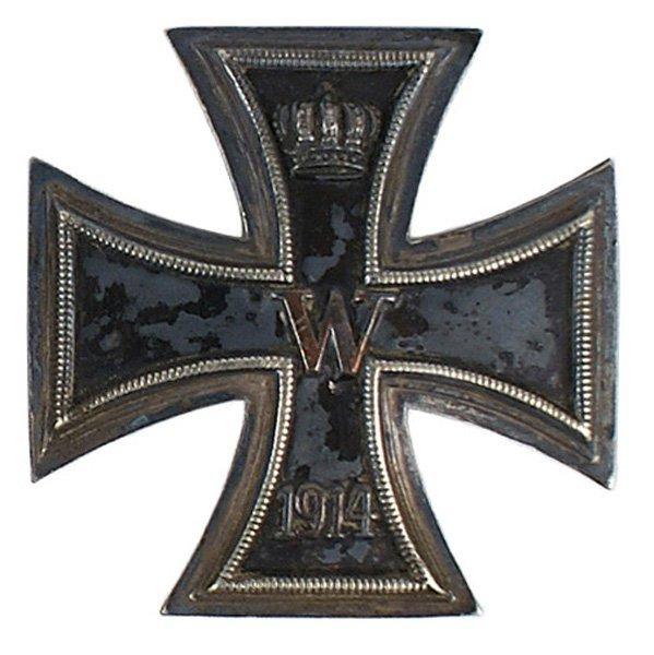 3: German WWI1914 Iron Cross 1st class