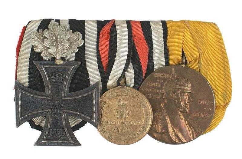 16: German Franco Prussian War Medal bar