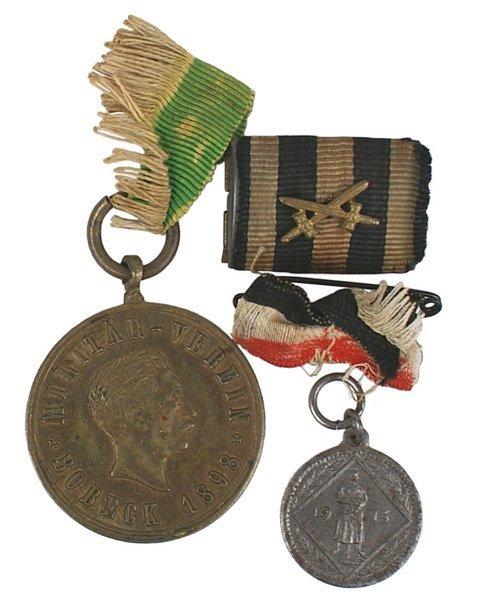 21: Imperial German lot Iron Cross ribbon bar
