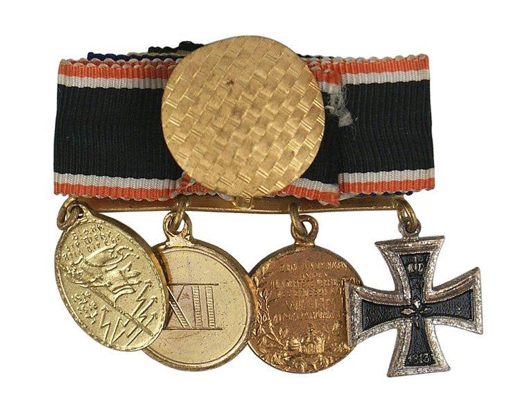 22: German WWI miniature medal bar