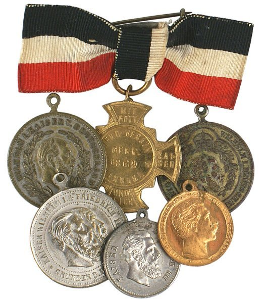 23: Lot of 6 Imperial German commemorative medals