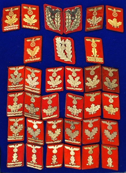 311: Collection of NSDAP Gauleitung collar tabs
