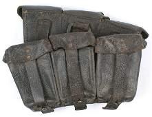 German WWII K98 cartridge pouch pair Navy