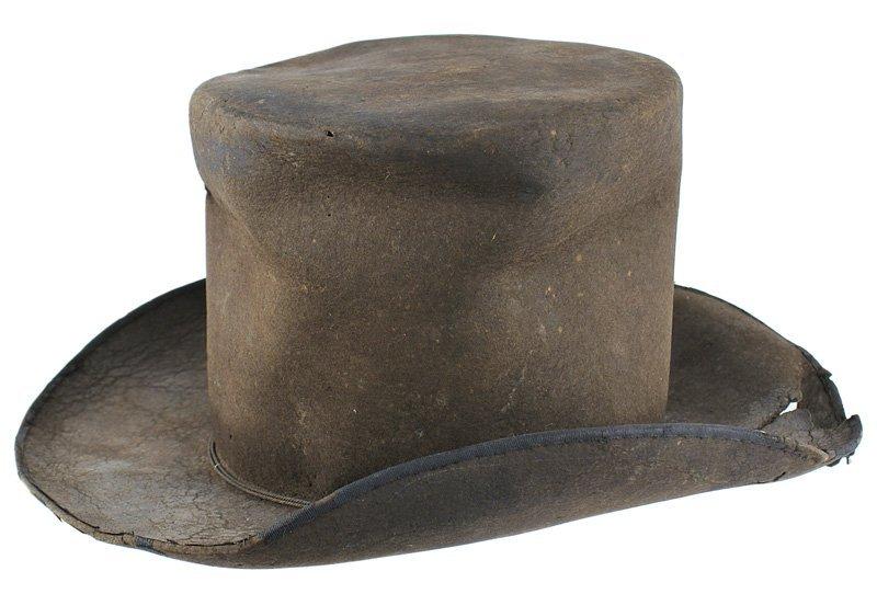 19th century American beaver skin hat BOSTON