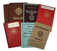 Lot of 6 German WWII ID books from one couple