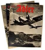 Lot of 3 1942 issues of Der Adler