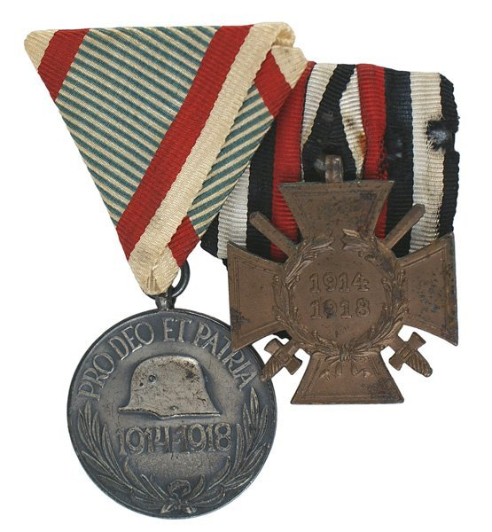 German WWI lot Combatants Cross  War Medal