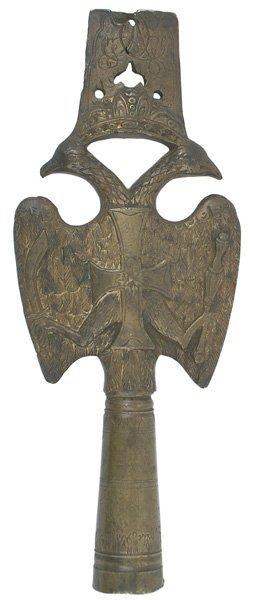 Imperial Russian bronze pole top Circa 1880