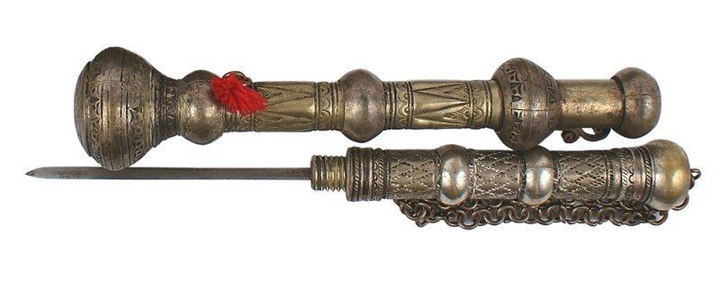Indo-Persian baton dagger Circa 19th Century
