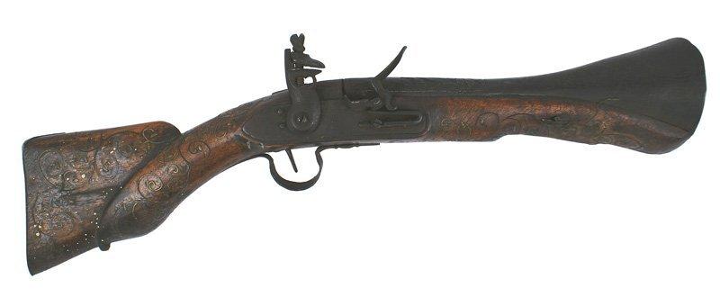 Turkish Flintlock Blunderbus pistol gun rifle