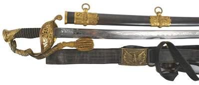 Civil War M1850 presentation sword Staff and Field