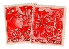 German WWII SS SA commemorative stamps