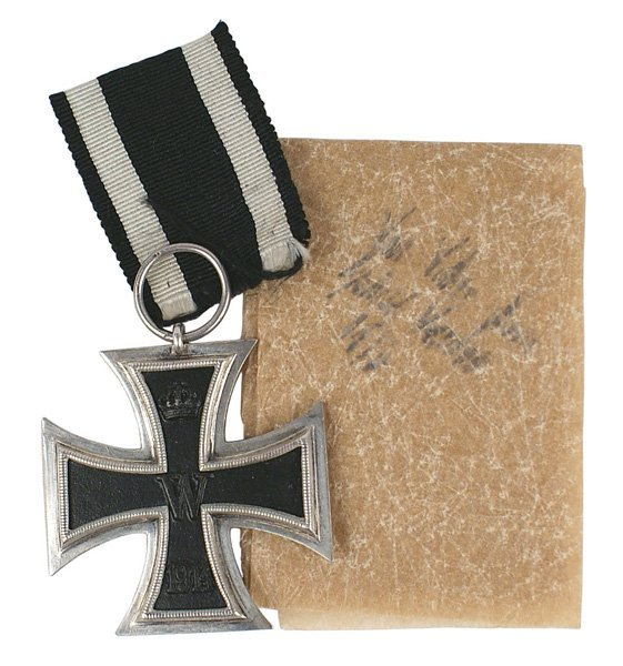 WWI 2nd Class Iron Cross medal with history