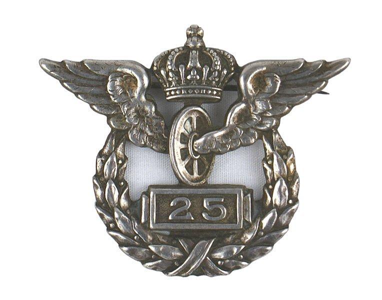 German WWI 25 Year Railway Service badge