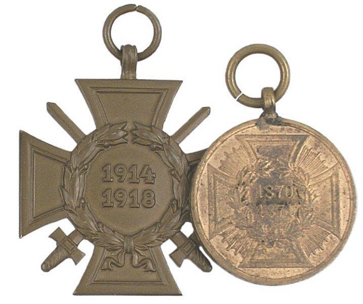 Lot 2 German War Medal Combatant Cross