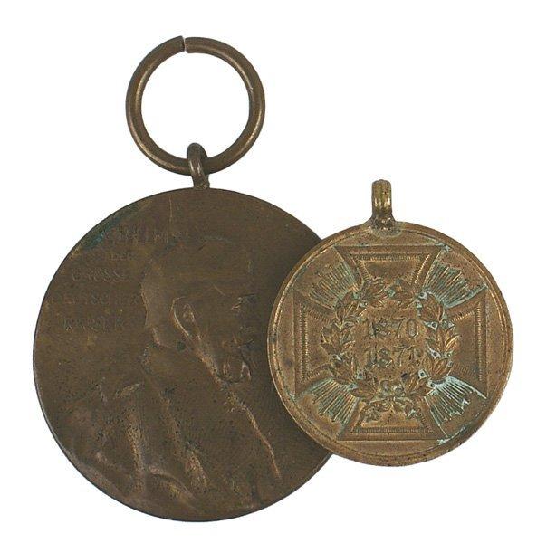 Lot of 2 German WWI medals War Wilhlem