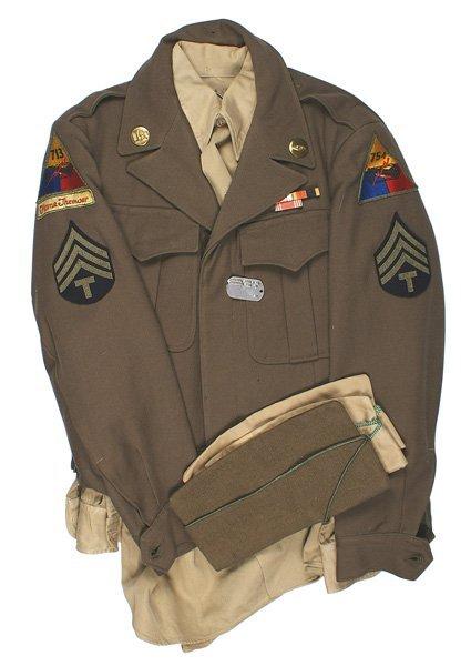 U.S. WWII Tank Battalion uniform Flame Thrower
