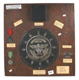 U.S. WWII GI souvenir Luftwaffe Salver Cross etc