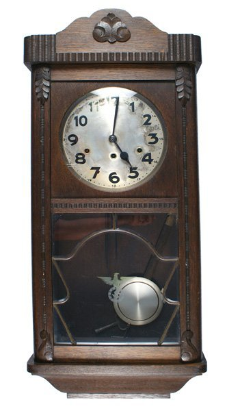 Unusual German 1930s wall clock swastika WWII