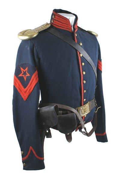 Civil War Ordnance Sergeant Cavalry shell jacket