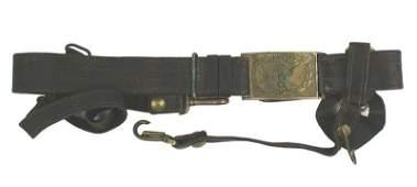Civil War Officer sword belt and buckle