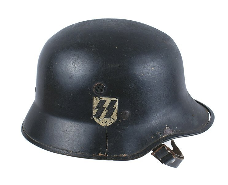Early German WWII SS Vulkanfiber parade helmet