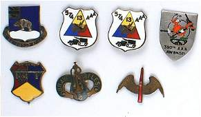Lot of 7 US WWII DIs 13th Armored etc