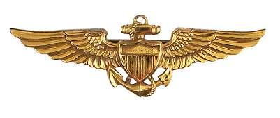U.S. Navy WWII gilt Pilots Wings 10K
