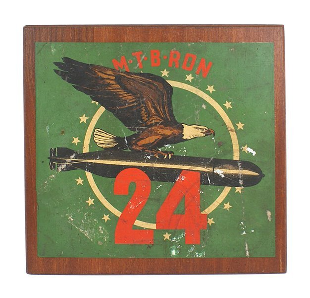 U.S. WWII PT Squadron 24 plaque medals lot