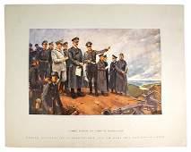 German WWII print Conrad Hommel Hitler