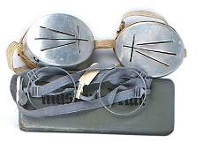 German WWII lot glasses snow goggles
