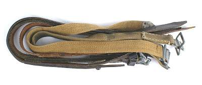 Lot of German WWII equipment straps