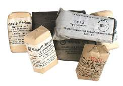 Lot of German WWII bandage shell dressings