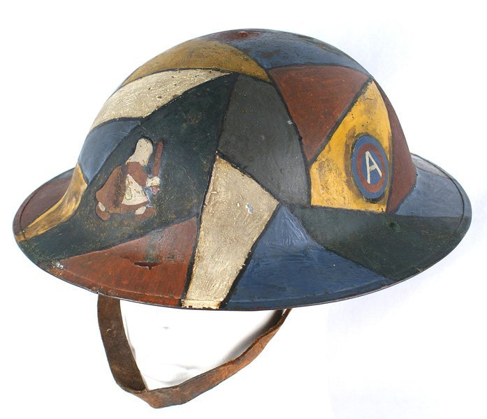 U.S. WWI 50th Aero Squadron camo helmet