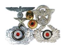 Lot of German WWII cap insignia Eagles