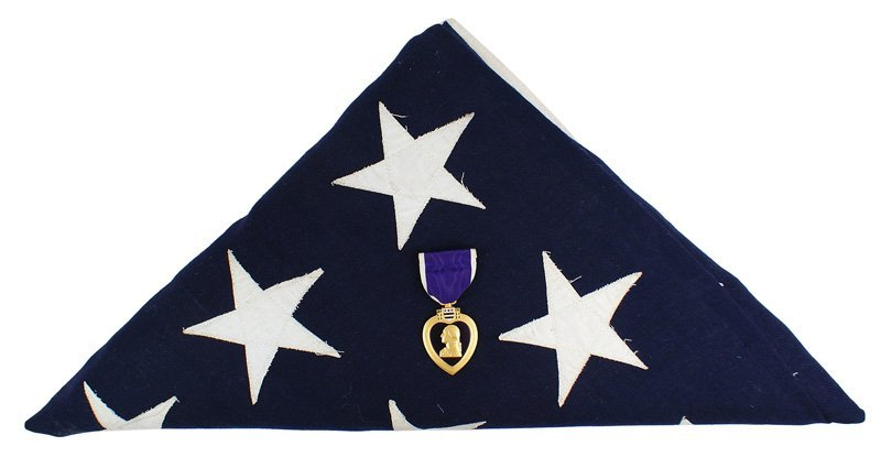 U.S. WWII Purple Heart Filthy 13 506th Parachute