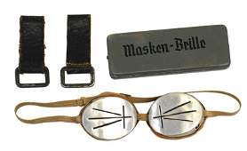 German WWII lot Mountain Troops goggles etc