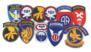 Lot of US WWII Paraunit nsignia Airborne
