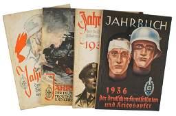 Lot of 4 German WWII book yearbook NSKOV