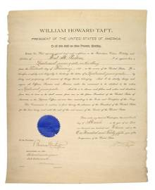 Naval appointment signed by President Wm. H. Taft